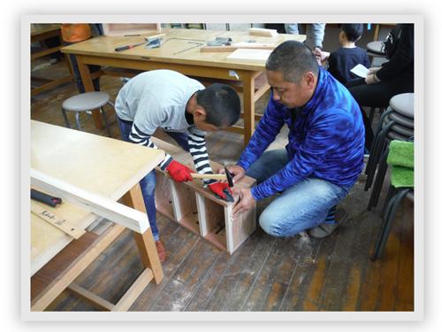 親子で木工教室