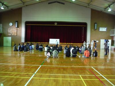 有田町大山小学校にて『親子木工教室』